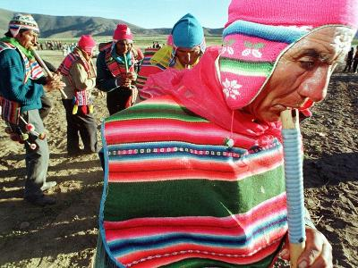 Aymara Indian Farmers Celebrate the Feast of the Cross--Photographic Print