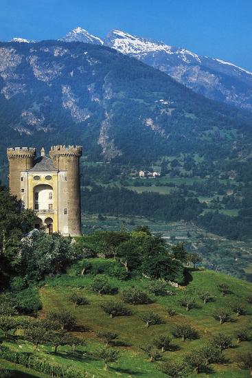 Aymavilles Castle, 12th-14th Century, Aosta Valley, Italy--Photographic Print