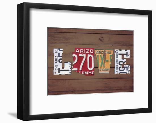 AZ State Love-Design Turnpike-Framed Giclee Print
