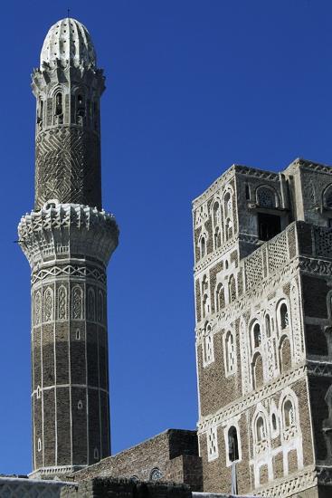 Az-Zumur Mosque, Minaret, Sana'A, Yemen--Giclee Print