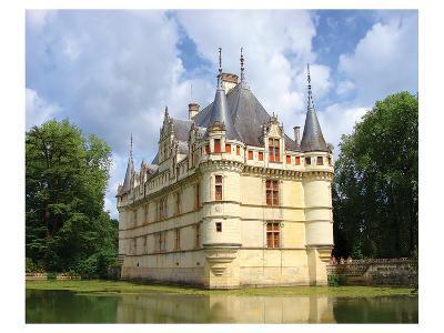 Azay Le Rideau Castle France--Art Print