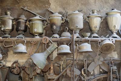 Azerbaijan, Lahic. A Collection of Antique Kettles and Pitchers-Alida Latham-Photographic Print