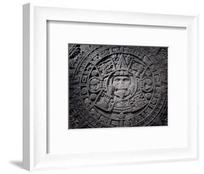 Aztec calendar stone, Mexico, Late Postclassic period, c1200-1521-Werner Forman-Framed Photographic Print