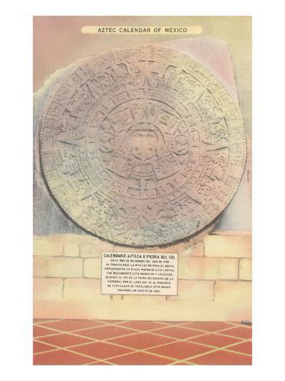Aztec Calendar Stone--Art Print