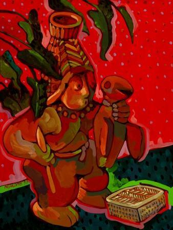 Aztec Hunter-John Newcomb-Giclee Print