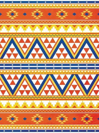 Aztec Pattern Colors-Jace Grey-Art Print