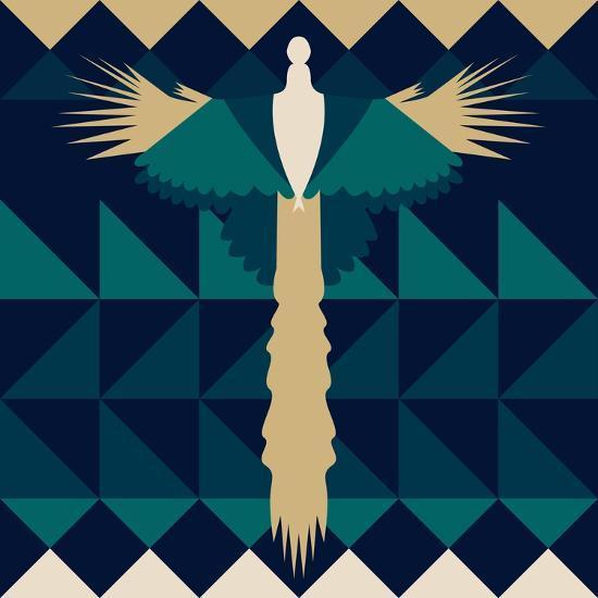 Aztec Peacock-Claire Huntley-Giclee Print