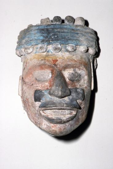Aztec Pottery Head, 1300-1521-Unknown-Giclee Print