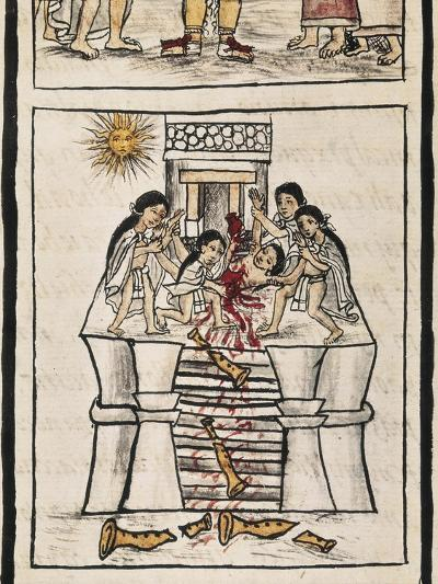 Aztec Sacrifice to the Good Tezcatilipoca--Art Print