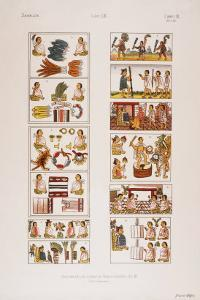 Aztec Scenes from Mexican manuscript known as the Florentine codex, c. 1570