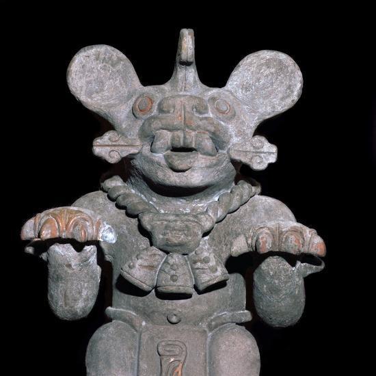 Aztec statuette of a bat-god. Artist: Unknown-Unknown-Giclee Print