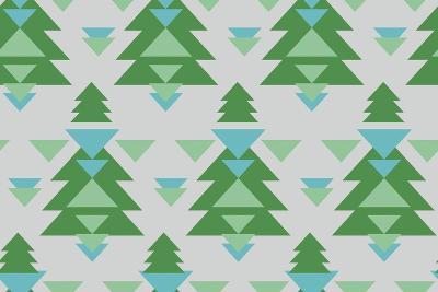 Aztec Trees-Joanne Paynter Design-Giclee Print