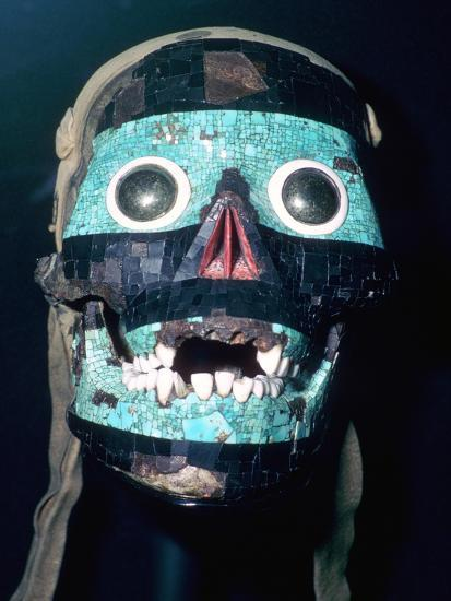 Aztec Turquoise and Lignite mosaic mask of Tezcatlipoca, 15th - 16th century.-Unknown-Giclee Print