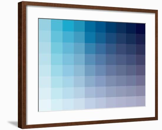 Azul Rectangle Spectrum-Kindred Sol Collective-Framed Art Print
