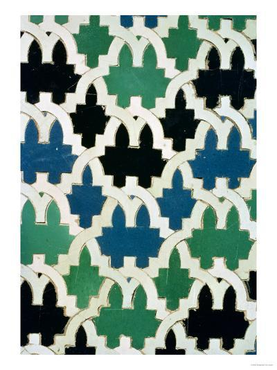 Azulejos Tiles from the Throne of the Sultans from the Patio De Las Doncellas (Faience)--Giclee Print