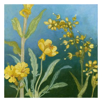 Azure Blooms I-Megan Meagher-Art Print