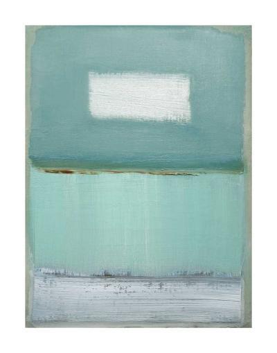 Azure Blue I-Caroline Gold-Art Print