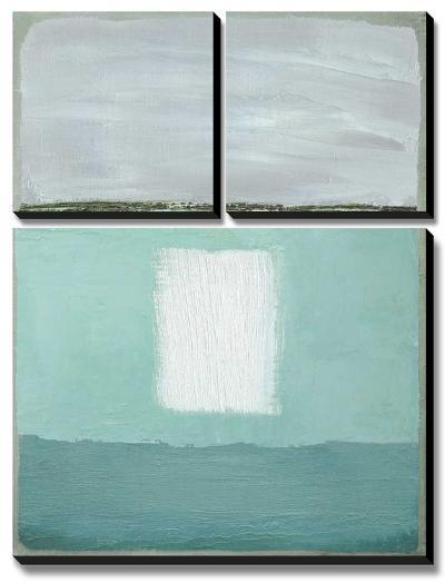 Azure Blue II-Caroline Gold-Canvas Art Set