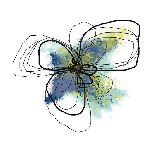 Azure Petals II-Jan Weiss-Art Print