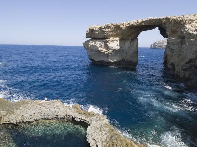 Azure Window at Dwejra Point, Gozo, Malta, Mediterranean, Europe-Robert Harding-Photographic Print