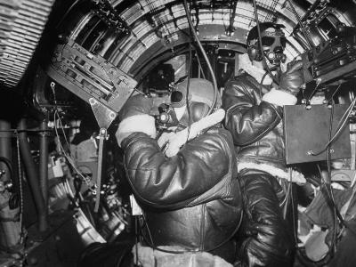 B-17 Flying Fortress Bomber During Bombing Raid Launched by US 8th Bomber Command from England-Margaret Bourke-White-Photographic Print