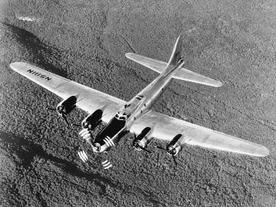 B-17 Flying Fortress in Flight--Photographic Print