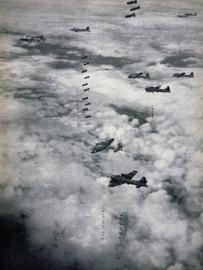 B-17 Flying Fortresses of Usaaf, 1944--Giclee Print