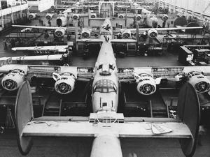 B-24s at an Aircraft Plant