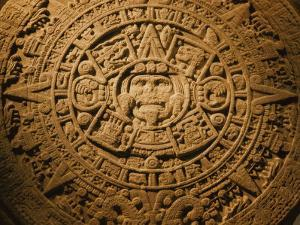 Close-up of the Center of the 20-Ton Aztec Sun Stone by B. Anthony Stewart