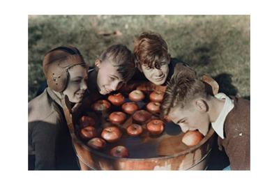 Four Boys Bob for Apples by B^ Anthony Stewart