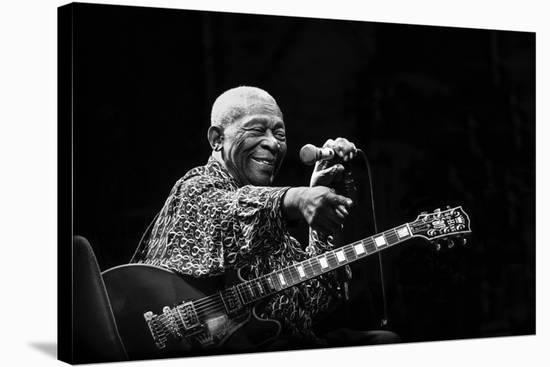B.B. King-Alice Lorenzini-Stretched Canvas Print