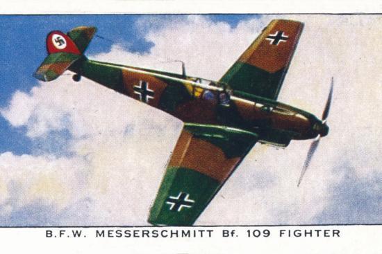'B.F.W. Messerschmitt Bf. 109 Fighter', 1938-Unknown-Giclee Print