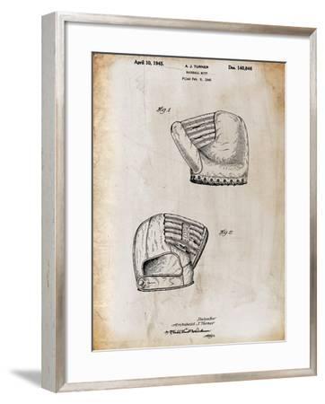 B Glove white-Cole Borders-Framed Giclee Print
