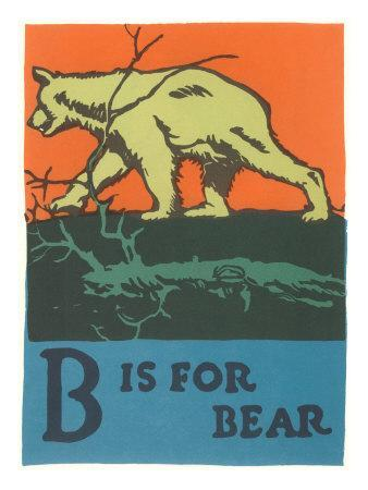 B is for Bear--Art Print
