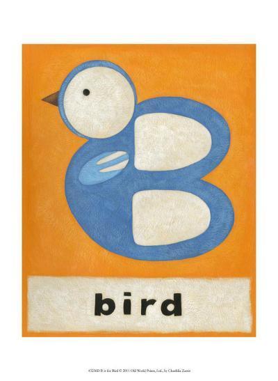 B is for Bird-Chariklia Zarris-Art Print