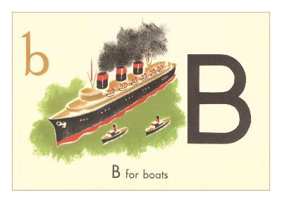 B is for Boats--Art Print
