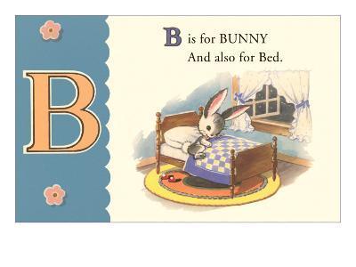B is for Bunny--Art Print