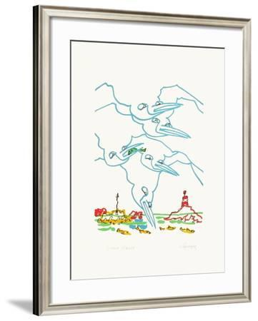 B - Les goélans II-Charles Lapicque-Framed Limited Edition