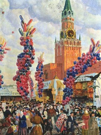 Easter Market at the Moscow Kremlin, 1917