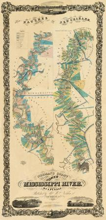 b-m-norman-chart-of-the-lower-mississippi-river-c-1858
