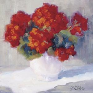 Red Geraniums by B^ Oliver