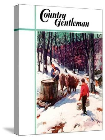 """""""Harvesting Maple Sap,"""" Country Gentleman Cover, March 1, 1940"""