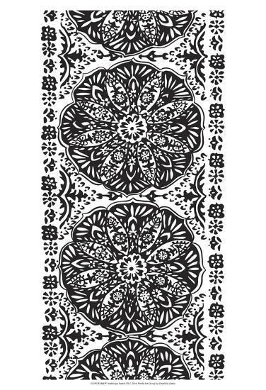 B&W Arabesque Panels III-Chariklia Zarris-Art Print