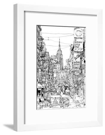 B&W City Scene II-Melissa Wang-Framed Art Print