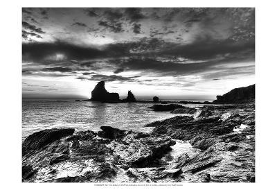 B&W Tide Pools & Rocks-Nish Nalbandian-Art Print