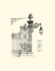 B&W Wrought Iron Gate IV