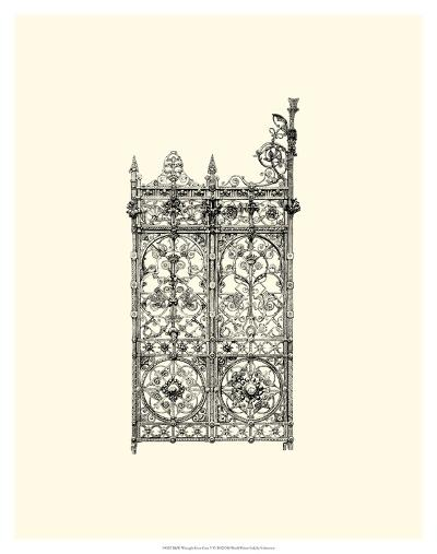B&W Wrought Iron Gate V--Giclee Print