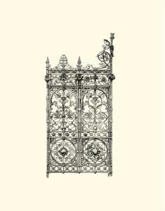 B&W Wrought Iron Gate V