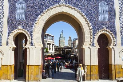 Bab Boujeloud Gate (The Blue Gate)-Doug Pearson-Photographic Print