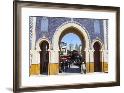 Bab Boujeloud Gate (The Blue Gate)-Doug Pearson-Framed Photographic Print